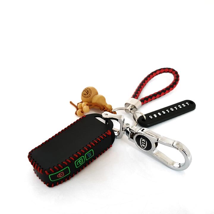 Bao da chìa khóa cho ô tô KIA 3 nút PKXH-106
