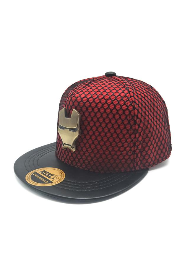 Mũ Snapback Bọc Lưới Kèm Logo Người Sắt Mạnh Mẽ SB44