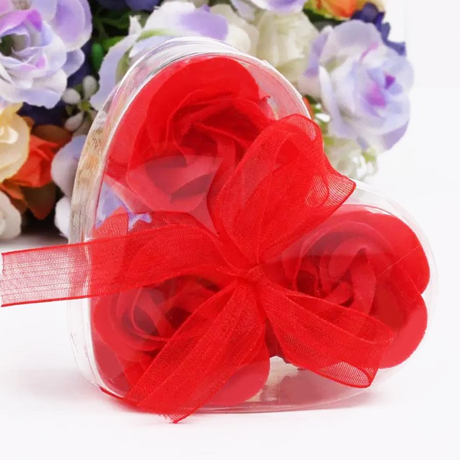 Artificial Flower Rose Flower Romantic 3PCS/Set Soap Valentine