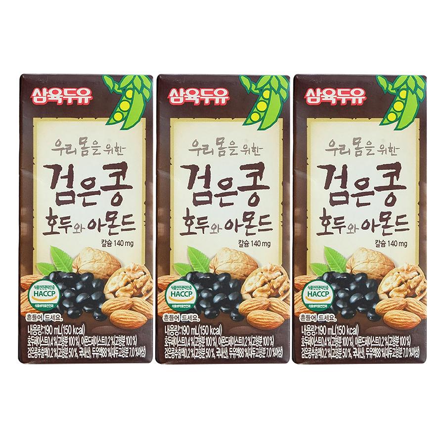 Lốc 3 Hộp Sữa Đậu Đen, Óc Chó, Hạnh Nhân Sahmyook Foods (190ml/Hộp) - 1063654 , 8801136361780 , 62_3602057 , 57000 , Loc-3-Hop-Sua-Dau-Den-Oc-Cho-Hanh-Nhan-Sahmyook-Foods-190ml-Hop-62_3602057 , tiki.vn , Lốc 3 Hộp Sữa Đậu Đen, Óc Chó, Hạnh Nhân Sahmyook Foods (190ml/Hộp)
