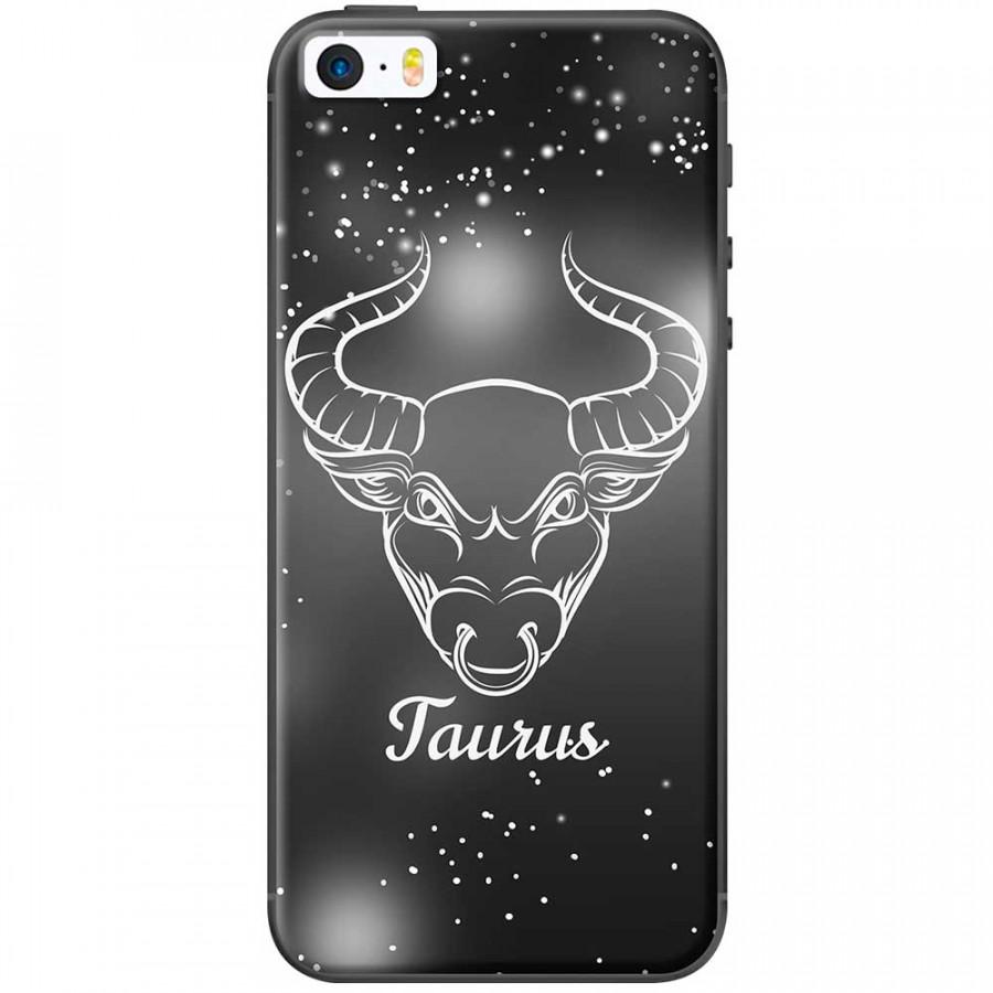Ốp lưng  dành cho iPhone 5, iPhone 5s mẫu Cung hoàng đạo Taurus (đen)