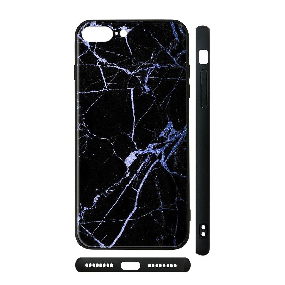 Ốp kính cho iPhone in hình đá đen - dah004 (có đủ mã máy)