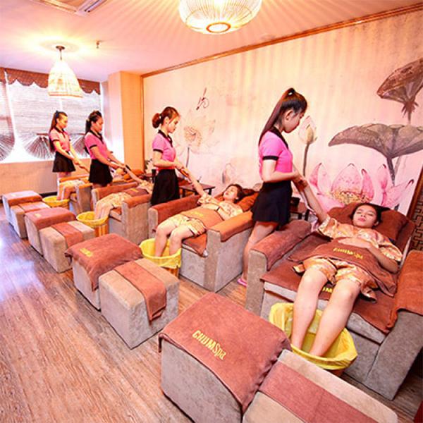 Liệu Trình VIP Massage Body Kết Họp Ngâm Chân Đắp Mặt Nạ Tại Hồng Anh Spa