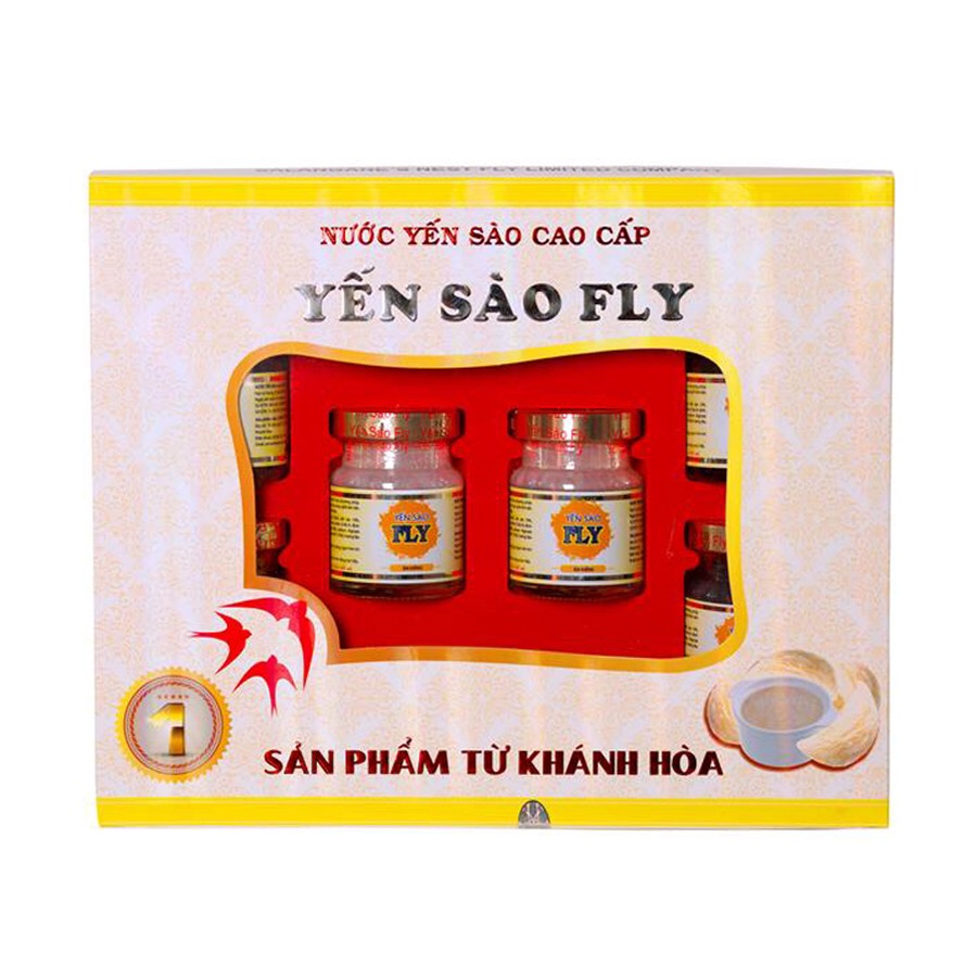 Bộ 6 hủ yến sào ăn kiêng Fly 70ml
