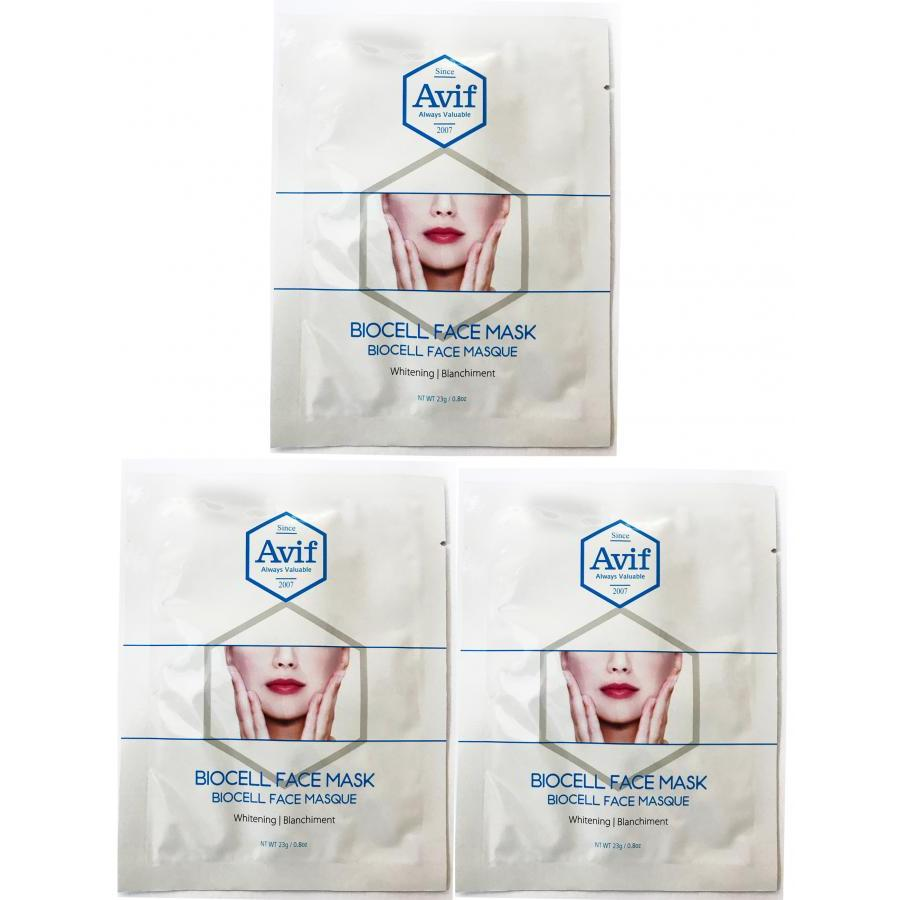 Combo bộ 3 miếng mặt nạ Avif biocell dưỡng trắng da - Avif biocell whitenig face mask