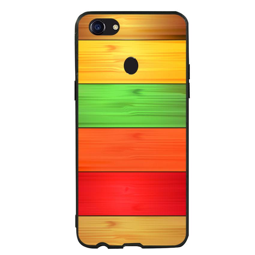 Ốp lưng nhựa cứng viền dẻo TPU cho điện thoại Oppo F5 - Sắc Màu