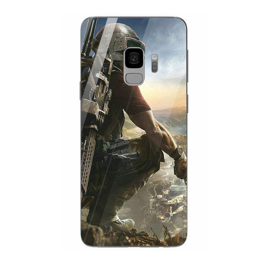Ốp kính cường lực dành cho điện thoại Samsung Galaxy S9 - pubg mobile ban sung - pubg017