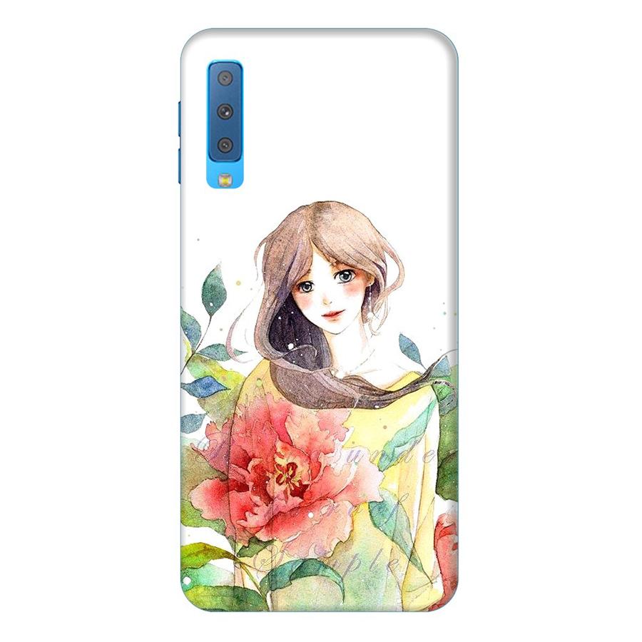 Ốp Lưng Dành Cho Điện Thoại Samsung Galaxy A7 2018 Cô Gái Hoa Hồng