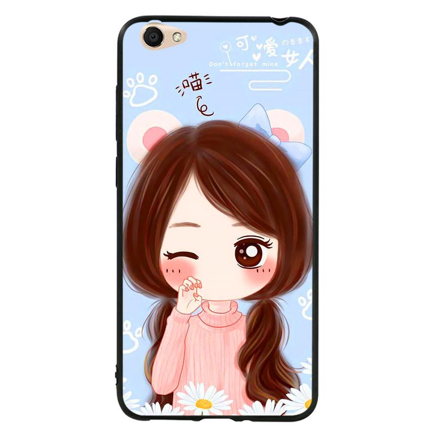 Ốp lưng viền TPU cao cấp cho điện thoại Vivo Y55 -Baby Girl