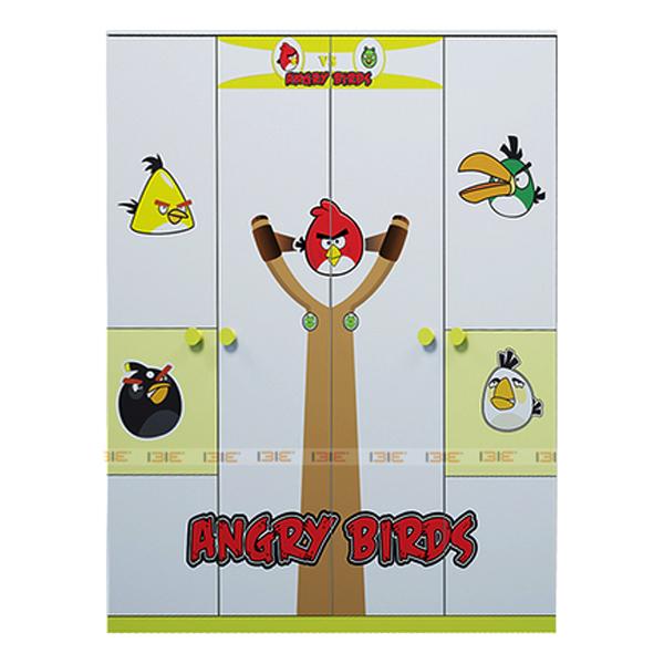 Tủ Quần Áo 4 Cánh Hình Angry Bird IBIE CWARBM16 (1m6)