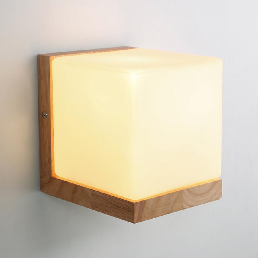 Combo 2 đèn vách hình khối vuông - DV00012 | kèm bóng - đèn tường trang trí