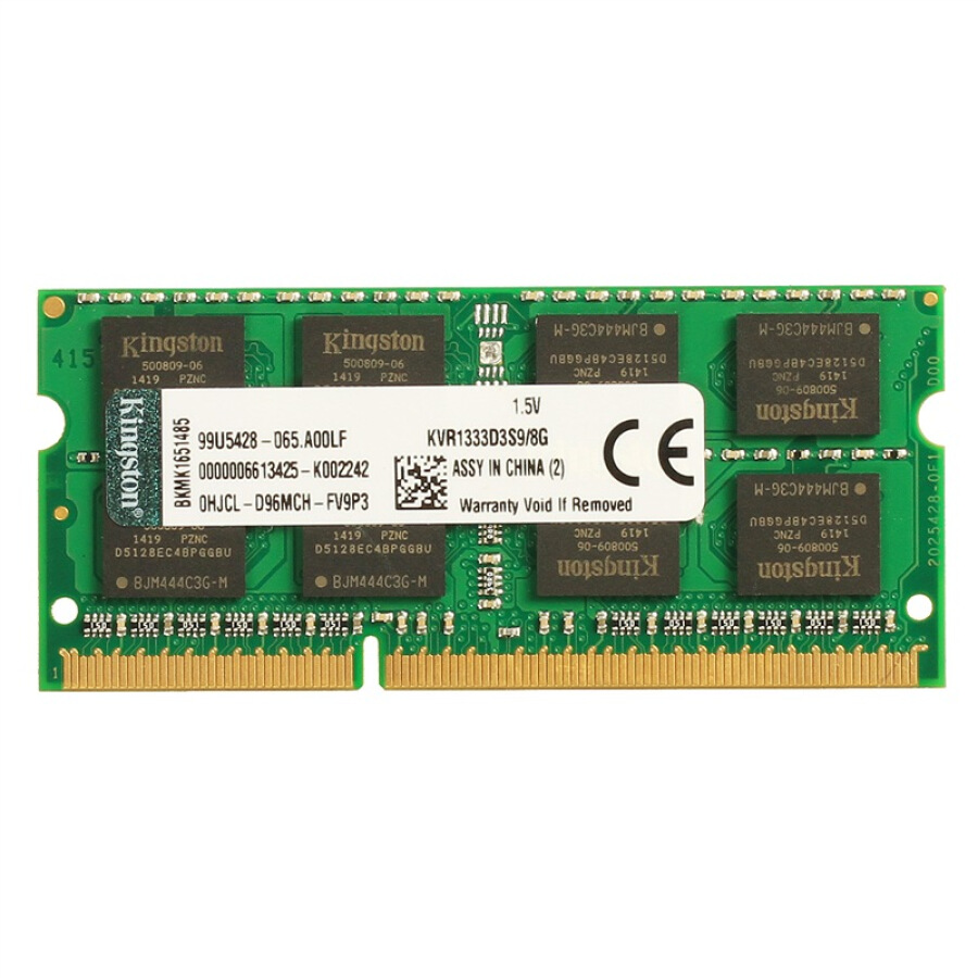 Bộ Nhớ RAM Laptop Kingston DDR3 1333 8GB