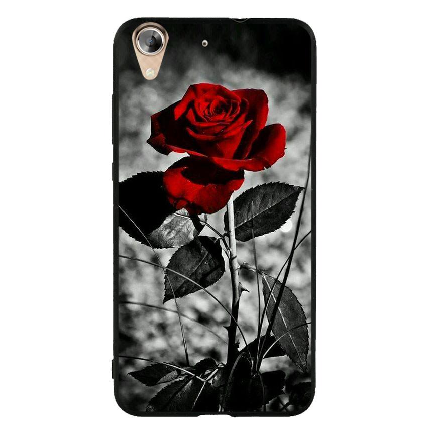 Ốp lưng viền TPU cho điện thoại Huawei Y6 II -Rose 08
