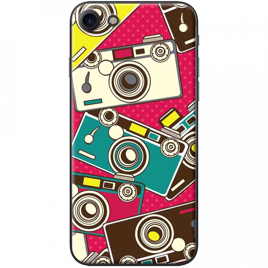 Ốp lưng dành cho iPhone 7 mẫu Máy ảnh nền hồng