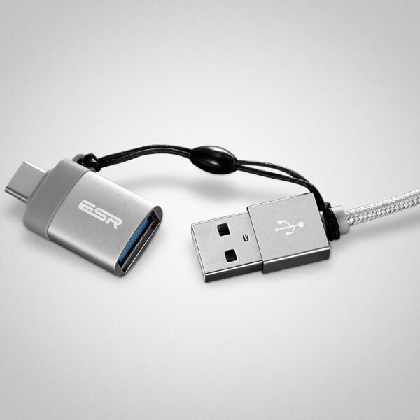 Cáp Sạc Và Truyền Dữ Liệu Type-C to USB3.0 ESR - Xám Đậm