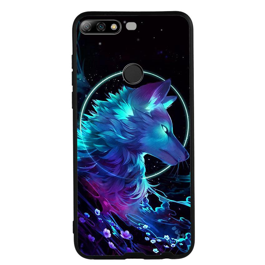 Ốp lưng nhựa cứng viền dẻo TPU cho điện thoại Huawei Y7 Prime 2018 - Wolf