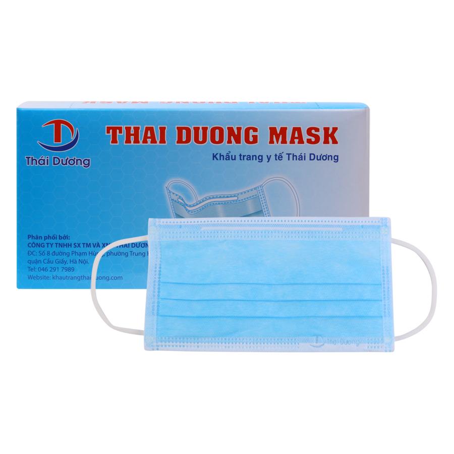 Khẩu Trang Y Tế Thai Duong Mask 3 Lớp Kháng Khuẩn Màu Xanh (50 Cái)