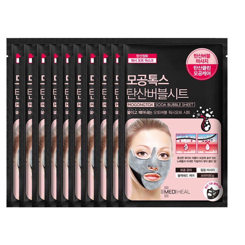 Combo 10 Mặt nạ sủi bọt thải độc làm sạch da và se khít lỗ chân lông Mediheal Mogongtox Soda Bubble Sheet 18ml x10 - 1998695 , 7717218389652 , 62_6903405 , 710000 , Combo-10-Mat-na-sui-bot-thai-doc-lam-sach-da-va-se-khit-lo-chan-long-Mediheal-Mogongtox-Soda-Bubble-Sheet-18ml-x10-62_6903405 , tiki.vn , Combo 10 Mặt nạ sủi bọt thải độc làm sạch da và se khít lỗ chân