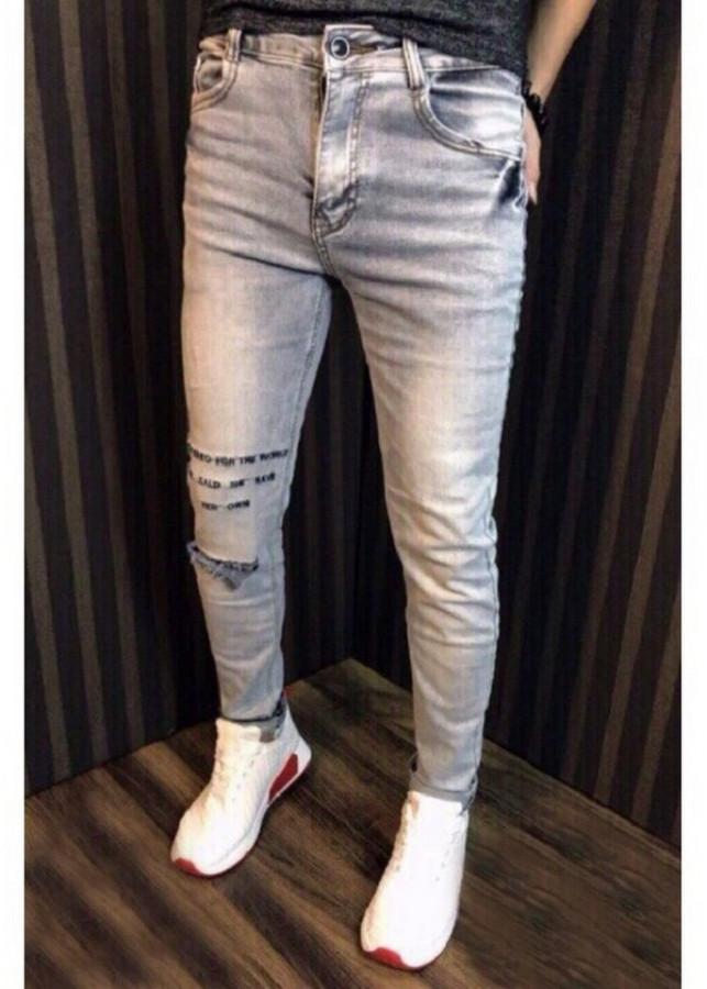 Quần Jeans Nam Wax Gối Đính Kèm Lời Tỏ Tình Dễ Thương QJN004
