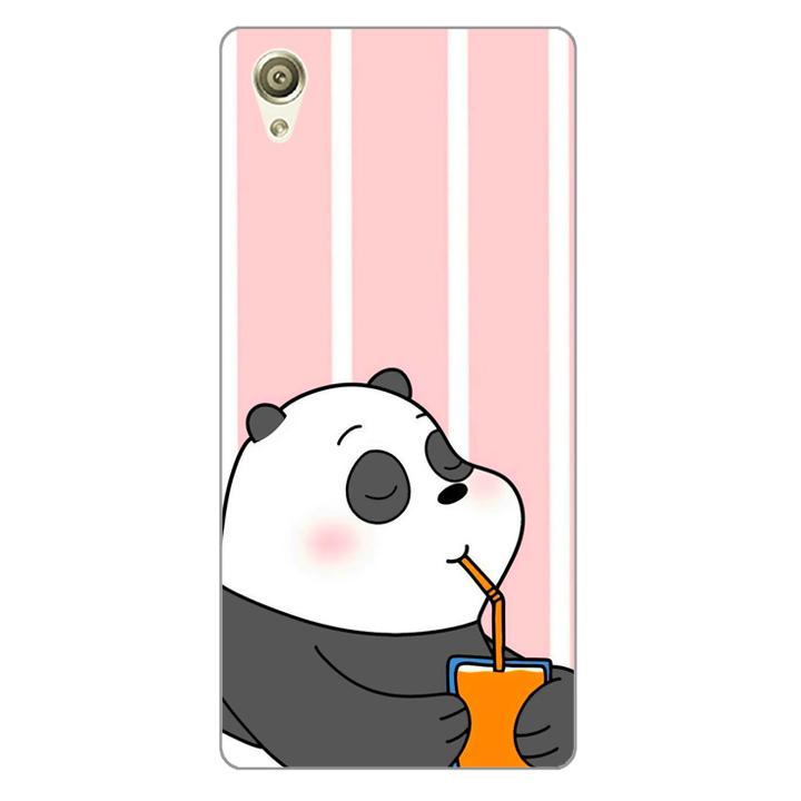 Ốp lưng dẻo Nettacase cho điện thoại Sony X _0399 PANDA06 - Hàng Chính Hãng