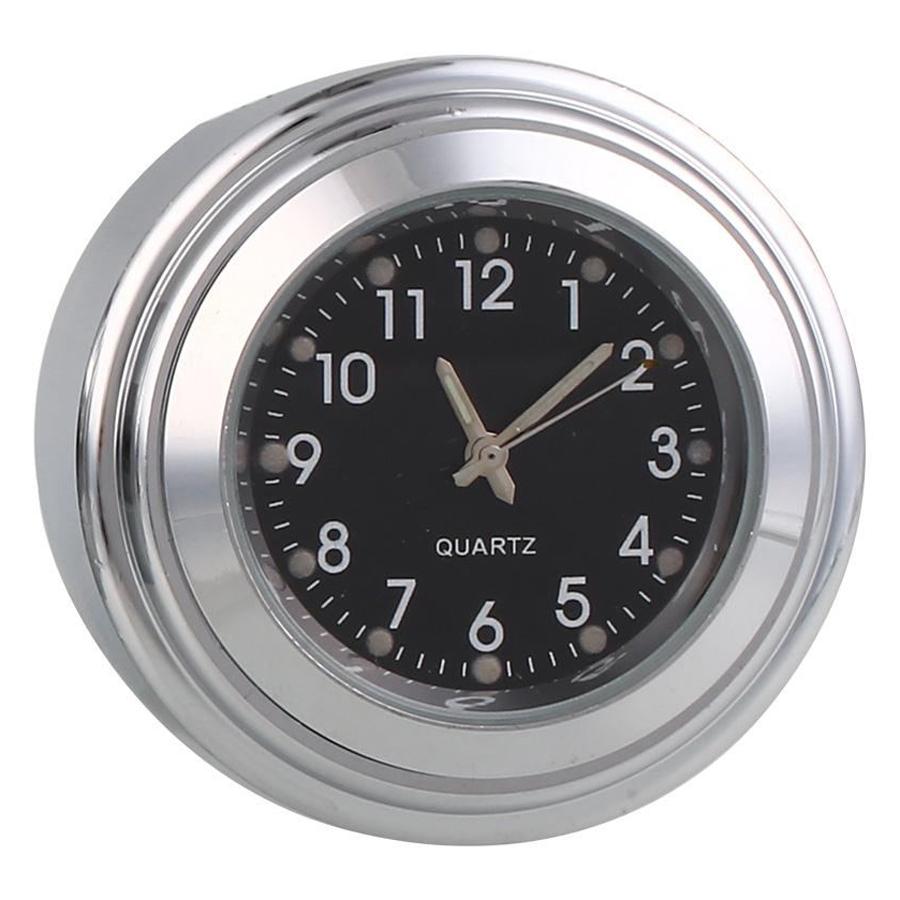 Motorcycle Motorbike Handlebar Mount Round Dial Clock/Thermometer Waterproof AU!