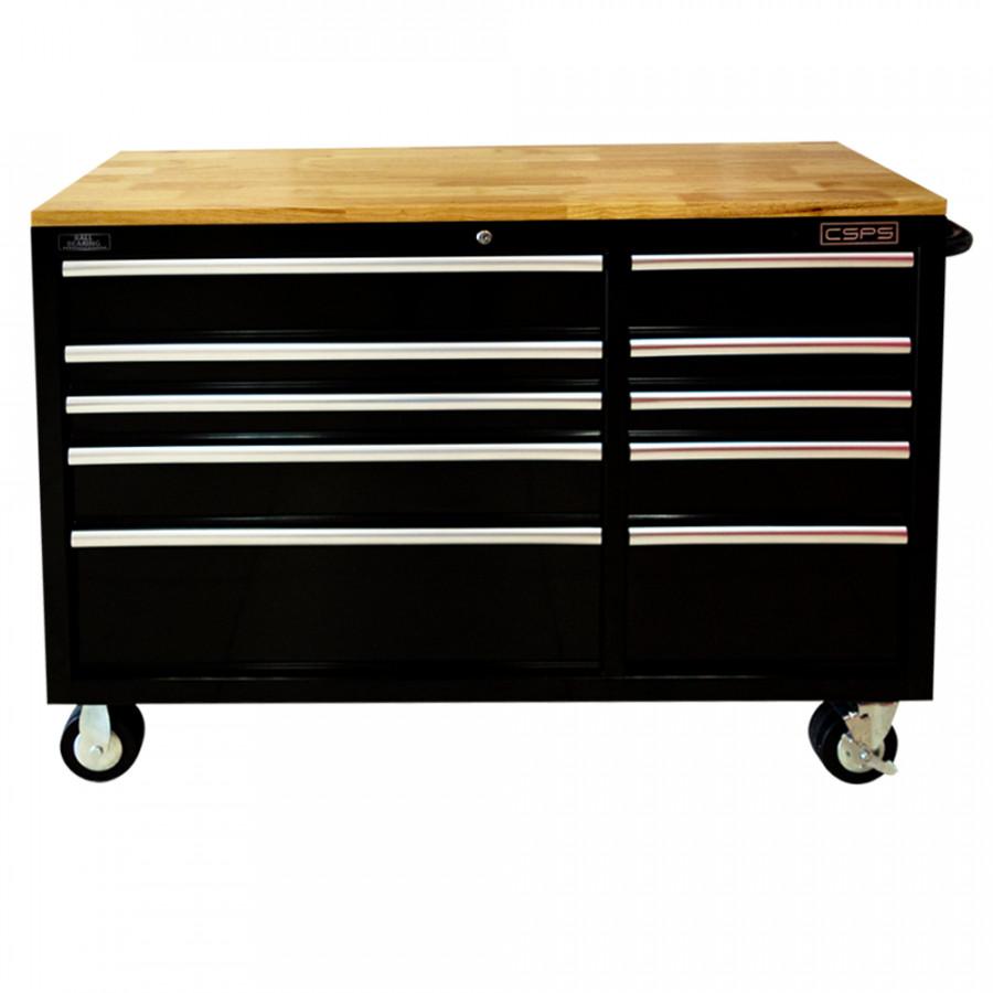 Tủ đồ nghề cao cấp 10 ngăn mặt ván gỗ CSPS