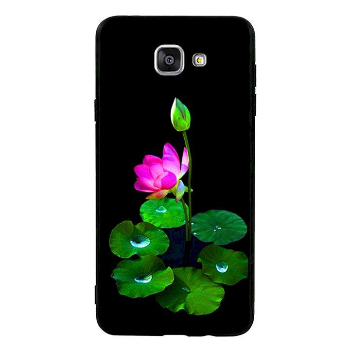 Ốp lưng viền TPU cho Samsung Galaxy A9/A9 Pro  - Lotus 02