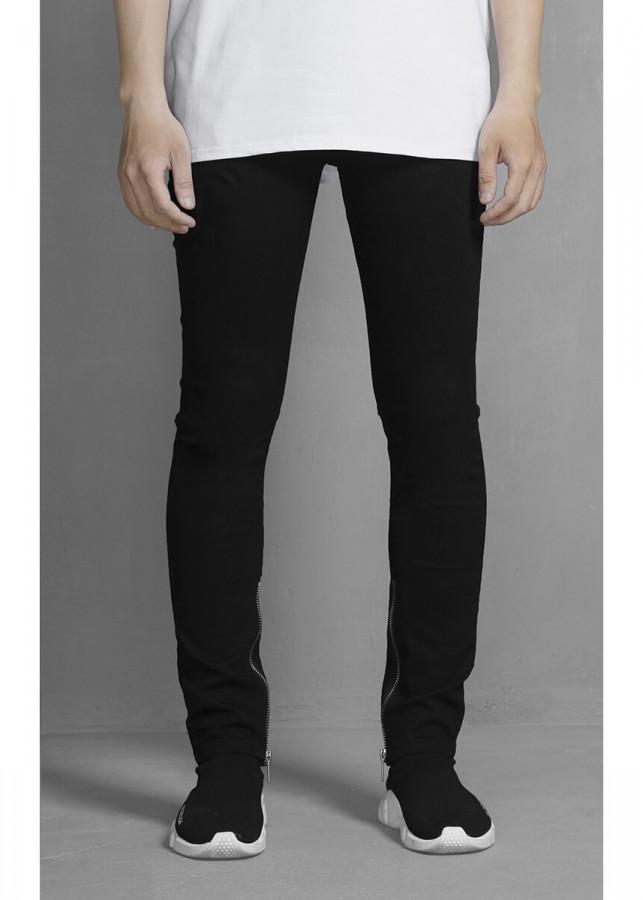 Zipper Skinny Jeans