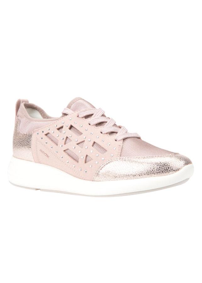 Giày Sneakers Nữ GEOX D OPHIRA B ELASTANE+GLIT.SYN ANTIQUE ROSE - Hồng