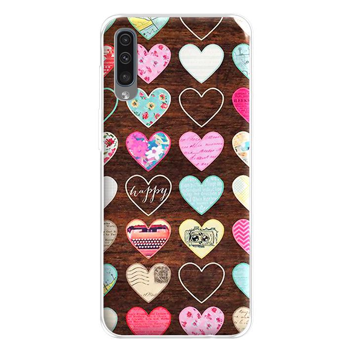 Ốp lưng dẻo cho điện thoại Samsung Galaxy A50 - 224 0069 HEART08