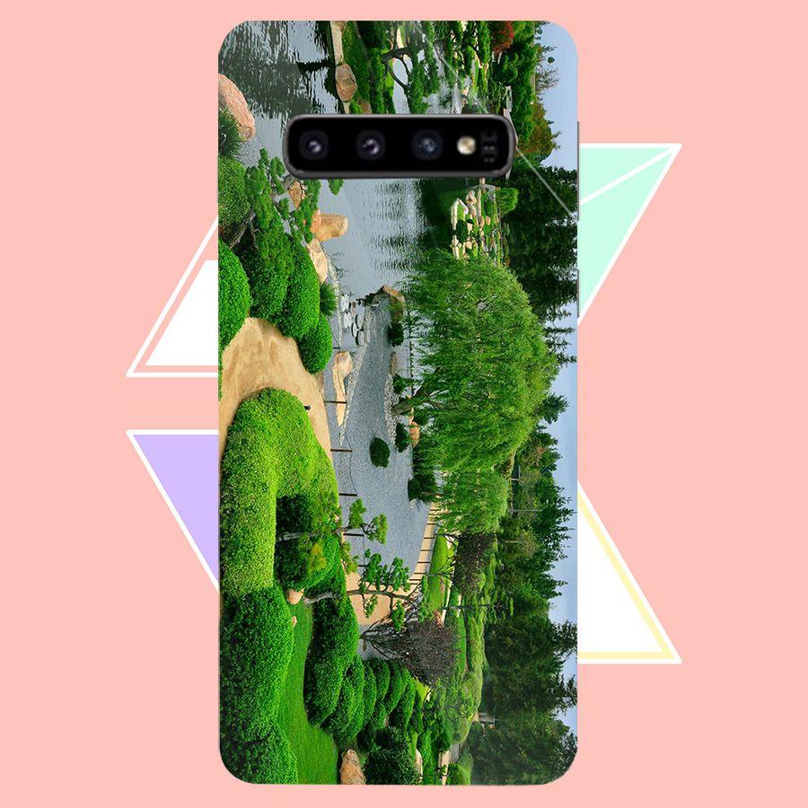 Ốp kính cường lực cho điện thoại Samsung Galaxy S10 - Vườn Hoa MS VHOA024 - Hàng Chính Hãng