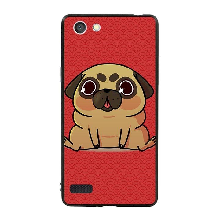 Ốp lưng viền TPU cho dành cho Oppo Neo 7 - Cute Dog 02
