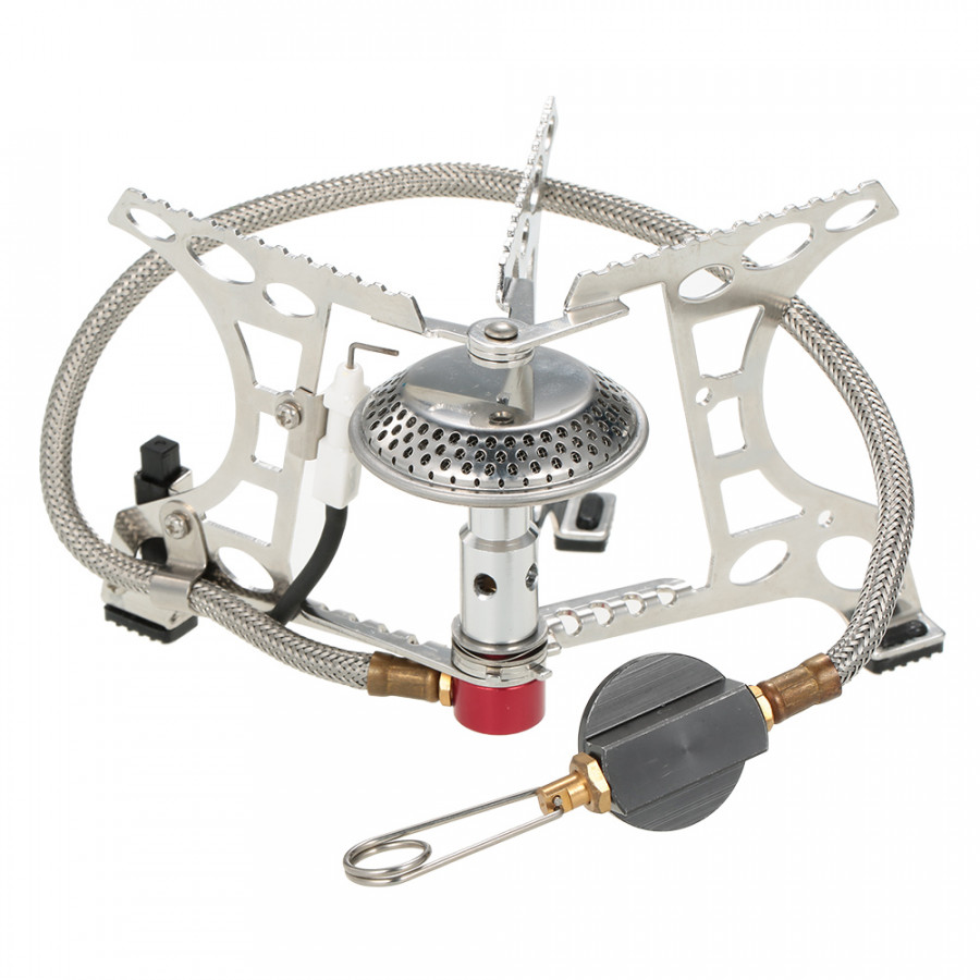 OUT-D Potable Outdoor Camping Hiking Trekking Picnic Butane Gas Stove Burner With Piezo Lighter