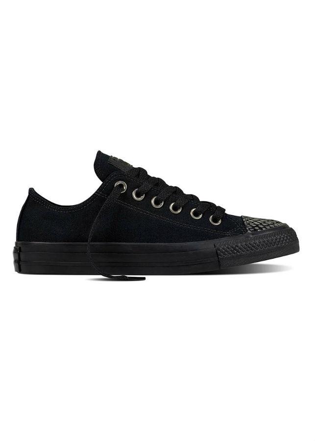 Giày Sneaker Unisex Chuck Taylor All Star Fashion Snake Toecap Converse 557984C - Black