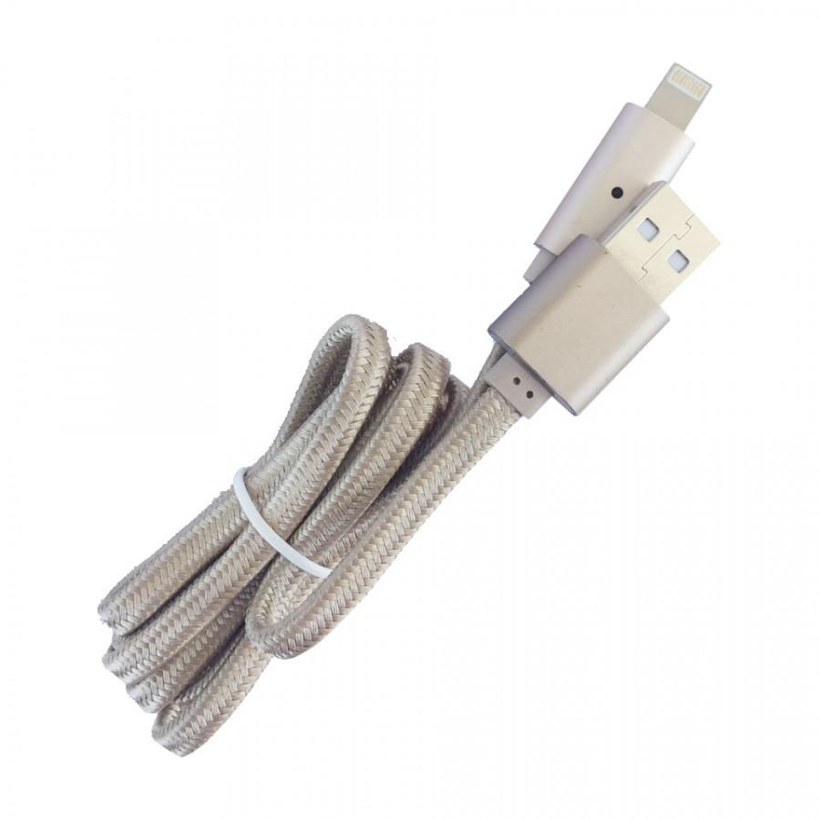 Cáp sạc iPhone/iPad eData U11 dây dù 1m chống đứt tự ngắt đèn khi pin đầy