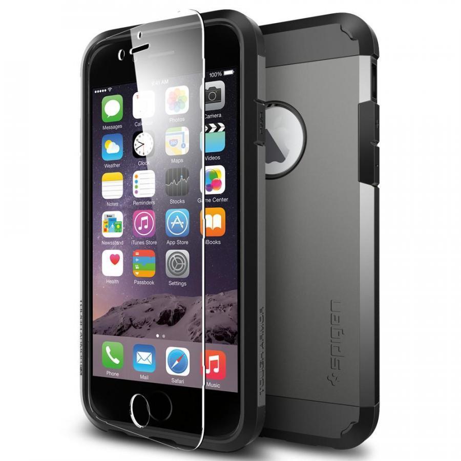 Ốp lưng dành cho iPhone 6 Spigen Tough Armor FX (Xám)