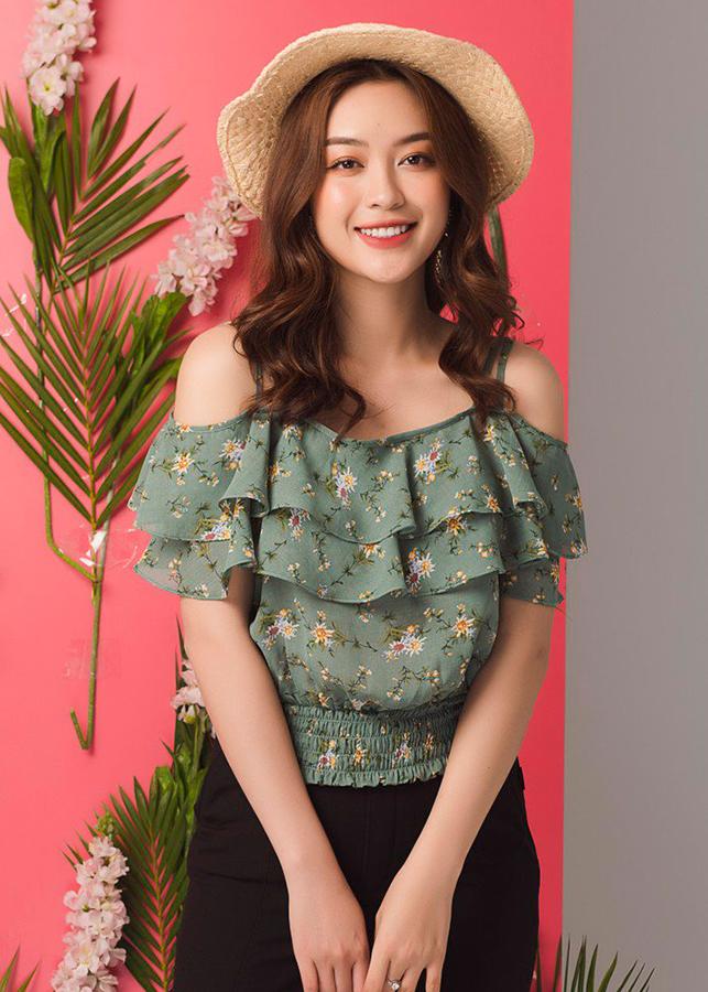 Áo Croptop Tay Chun, Cổ Trang Trí Nơ TosonFashion 14044X529