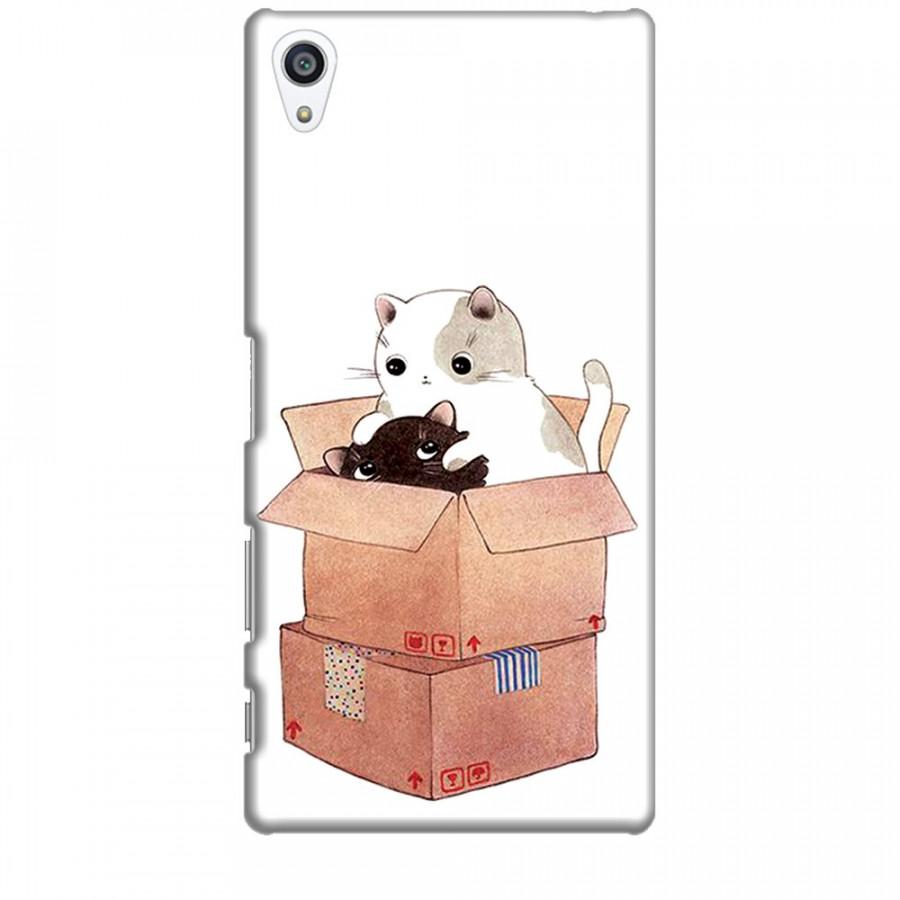 Ốp lưng dành cho điện thoại SONY Z5 PREMIUM Mèo Con Dễ Thương