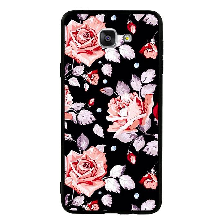 Ốp lưng viền TPU cao cấp cho Samsung Galaxy A9/A9 Pro  - Rose 03