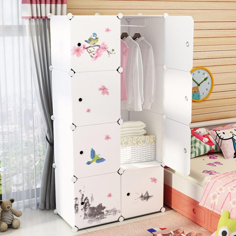 Kiss Fuju storage cabinet non-drawer plastic non-wood simple wardrobe closet children
