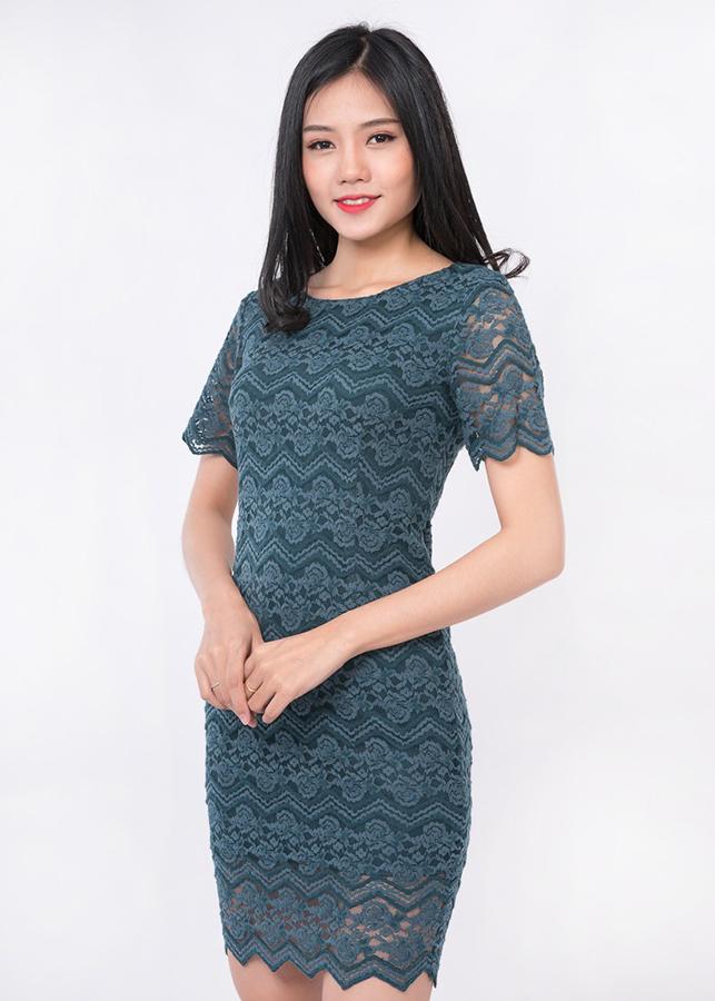 Đầm Body Ren Tay Ngắn Zerasy Fashion Màu Xanh Cổ Vịt - 176 - 986749 , 6743091130525 , 62_5549863 , 349000 , Dam-Body-Ren-Tay-Ngan-Zerasy-Fashion-Mau-Xanh-Co-Vit-176-62_5549863 , tiki.vn , Đầm Body Ren Tay Ngắn Zerasy Fashion Màu Xanh Cổ Vịt - 176