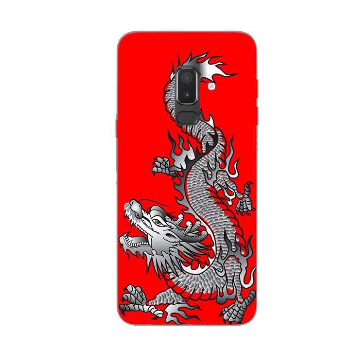 Ốp Lưng Dẻo Cho Điện thoại Samsung Galaxy J8 - Dragon 04