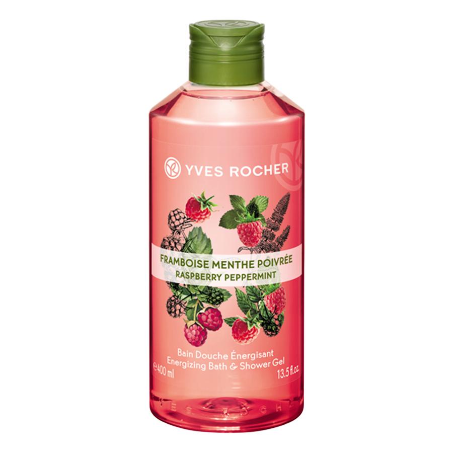 Sữa Tắm Yves Rocher Raspberry Peppermint Energizing Bath  Shower Gel 400ml