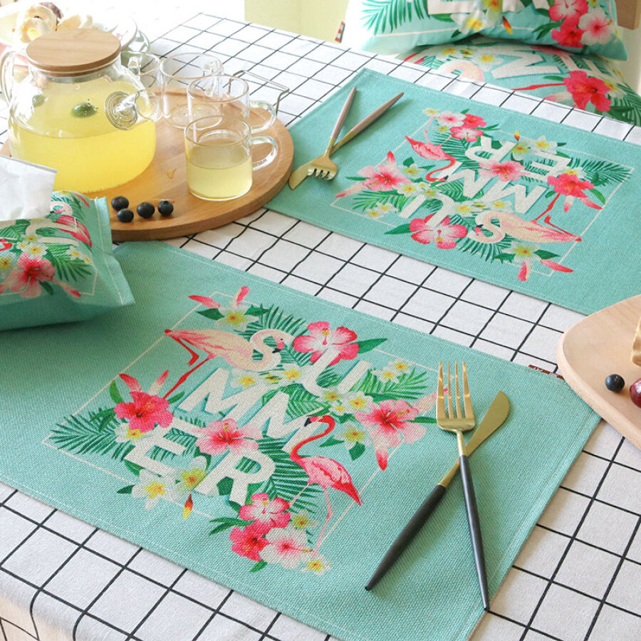 Yuan Yuan cloth art paper bag INS wind and fire bird car with a tray of cotton and linen paper towel bag sun visor back hanging flower