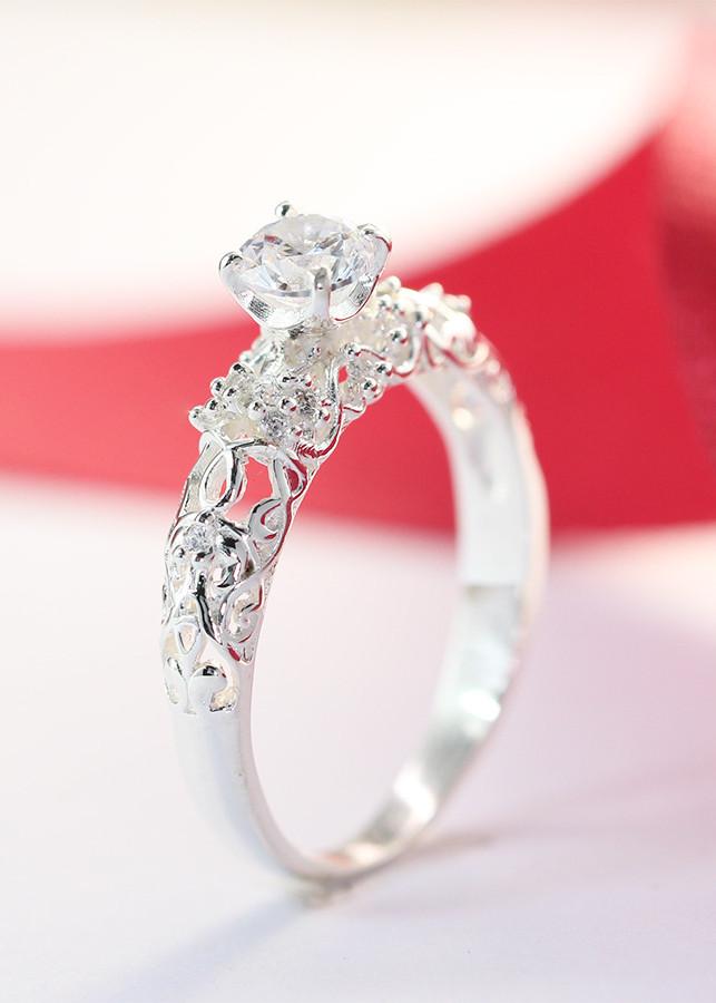 Nhẫn bạc nữ đính đá cao NN0099