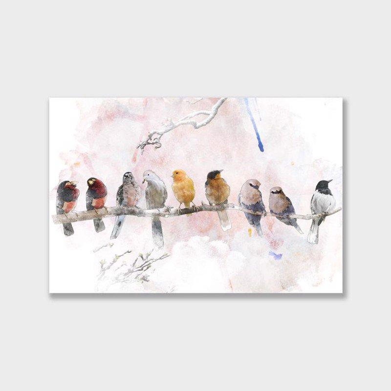 Tranh Canvas phong cách hình vẽ bầy chim đa sắc - 2263240 , 2440268942083 , 62_14504532 , 908000 , Tranh-Canvas-phong-cach-hinh-ve-bay-chim-da-sac-62_14504532 , tiki.vn , Tranh Canvas phong cách hình vẽ bầy chim đa sắc