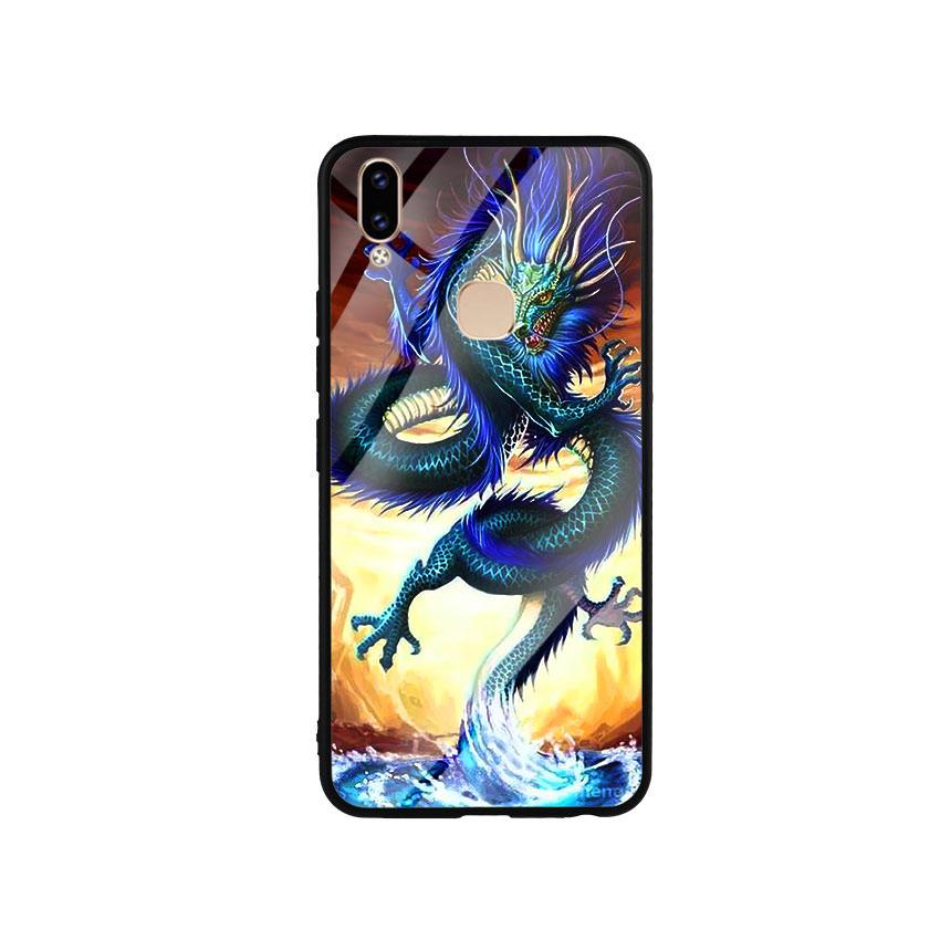Ốp Lưng Kính Cường Lực cho điện thoại Vivo V9 - Dragon 08
