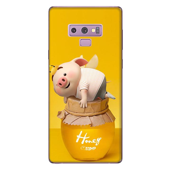Ốp lưng nhựa cứng nhám dành cho Samsung Galaxy Note 9 in hình Heo Cute