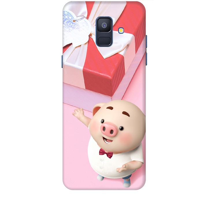 Ốp lưng dành cho điện thoại  SAMSUNG GALAXY A6 2018 Heo Con Đòi Quà
