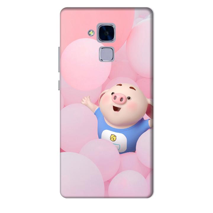 Ốp lưng nhựa cứng nhám dành cho Huawei GR5 Mini in hình Heo Con Nghịch Bóng